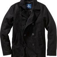 Old Navy Mens Wool Blend Pea Coats Size XXL Big - Black jack