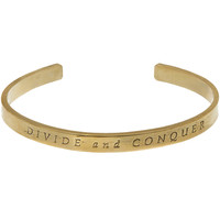 George Frost Bronze-Tone Divide and Conquer Cuff | Accessories | Liberty.co.uk