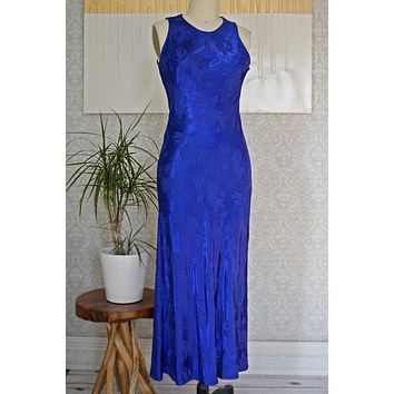 Vintage Sultry  Electric Blue Dress