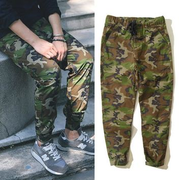 Camouflage Velcro Men Pants [6543160643]