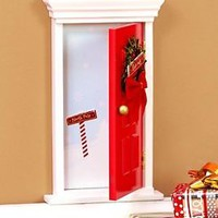 Santa's Elves' Enchanted Door Wall Hanging Shelf Christmas Holiday Home Decor