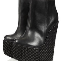 **Dusk Shadow Wedge Boots by CJG