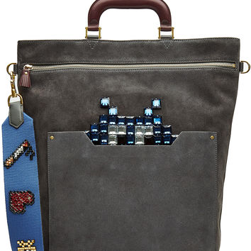 Anya Hindmarch - Space Invaders Orsett Suede Tote