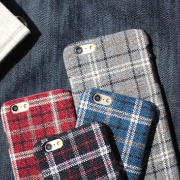 England plaid flannel mobile phone case for iphone 6 6s 6Plus 6S Plus+ Nice gift box!