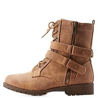 BAMBOO BELTED COMBAT BOOTIES