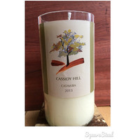 Fall Leaves Soy Candle Apple Spice Wine Candle New England Foliage