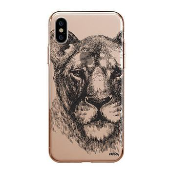 Lioness - iPhone Clear Case