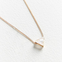 Cecilia Delicate Triangle Pendant Necklace | Urban Outfitters