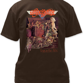 Aerosmith T-shirt - Toys in the Attic Album Cover Artwork | Men's Black Shirt