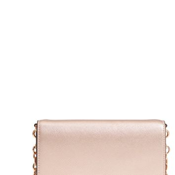 Tory Burch Robinson Metallic Leather Wallet on a Chain | Nordstrom