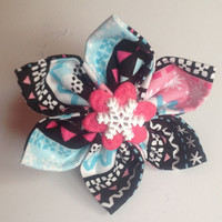"Christmas Snowflake Collar Flower for Female Dogs and Cats- ""Penguin Collar Flower"""
