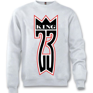The Fresh I Am Clothing King 23 Black Toe 14's White Crewneck