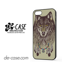 Wolf Wearing Dream Catcher DEAL-11980 Apple Phonecase Cover For Iphone 5 / Iphone 5S