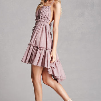 Tiered Halter Neck Dress