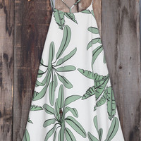 Cupshe Coconut Tree Print Slip Dress