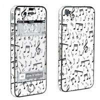 Apple iPhone 4 or 4s Full Body Decal Vinyl Skin - Music Note White By SkinGuardz