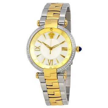Versace Revive Silver Dial Two-tone Ladies Watch VAI130016