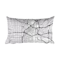 Los Angeles Map Throw Pillow