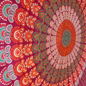 Bohemian Gypsy Mandala Bedroom Wall Decor Beach Blanket Meditation