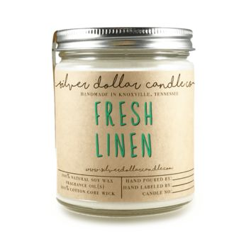 Fresh Linen Candle - 8oz Soy Candle