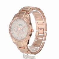 XOXO Women's XO5386 Rhinestone Accent Rose Gold Bracelet Watch: Watches: Amazon.com