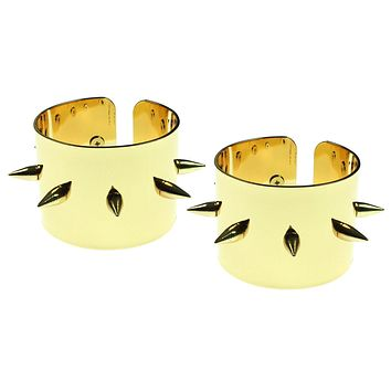 Suicide Squad Harley Quinn Gold Spike Cuffs - Set of 2
