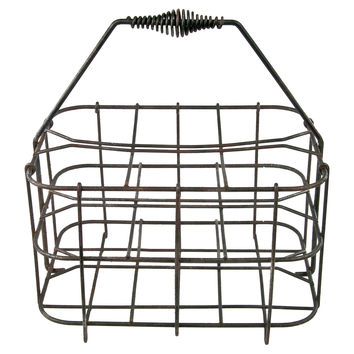 French Wire Wine Bottle Carrier