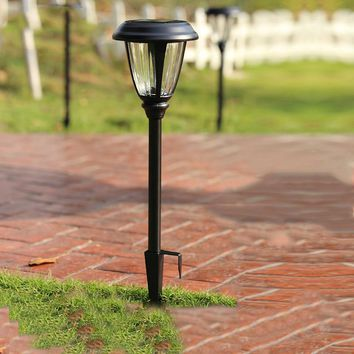 Stainless Steel Solar Lawn Light Garden Solar Power Glass Light Outdoor Solar Lamp For Outdoor Landscape Yard Deck Pathway
