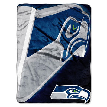 Seattle Seahawks NFL Micro Raschel Blanket (Bevel Series) (80x60)