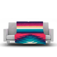 "Nika Martinez ""Surf"" Fleece Blanket, 80"" x 60"" - Outlet Item"