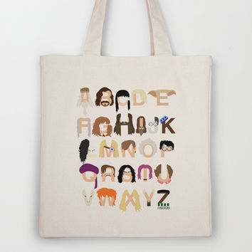 Harry Potter Alphabet Tote Bag by Mike Boon
