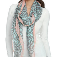 Leopard Blocked Woven Scarf | Shop Accessories at Wet Seal