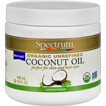 Spectrum Essentials Organic Coconut Oil - Unrefined - 15 oz
