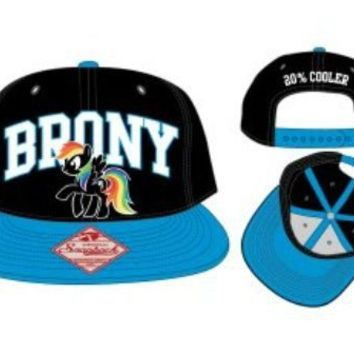9f6a95efab9 My Little Pony Brony Arch 20% Cooler Adult Black Snapback Adjustable Hat - My  Little