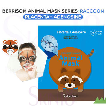 Berrisom Animal Mask series - Raccoon (Placenta + Adenosine)