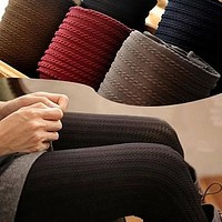 W742 New Fashion Winter/fall/spring Pantyhose for women and girl Colors Warm Stockings 5 colors free shipping