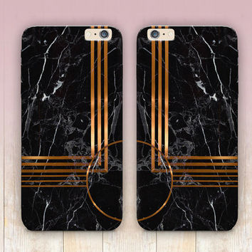 Printed Gold Black Marble Phone Case - iPhone 6 Case - iPhone 5 Case - iPhone 4 Case - Samsung S4 Case - iPhone 5C - Tough Case - Matte Case