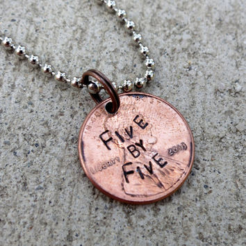 Five by Five - Faith Penny from Buffy (choice of keychain, necklace or cell charm) -Made to Order-
