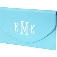 Envelope Clutch -- Aqua