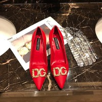 DOLCE&GABBANA   Women Casual Shoes Boots  fashionable casual leather