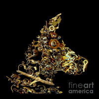Mechanical - Dog Photograph by Fran Riley - Mechanical - Dog Fine Art Prints and Posters for Sale #dog #art #steampunk