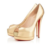 PALAIS ROYAL VERNIS,OR,CUIR KID ,Louboutin,Souliers Femme
