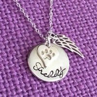 Pet Memorial Necklace - Pet Memorial Jewelry - Dog Memorial - Cat Memorial Necklace- Pet Remembrance Jewelry- Pet Memorial Jewelry