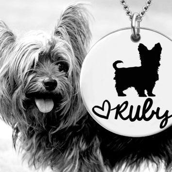 Yorkshire Terrier Personalized Jewelry | Yorkie Jewelry