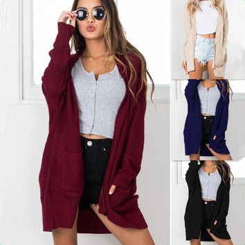 Women'S Long Sleeve Knitting Cardigan Jacket
