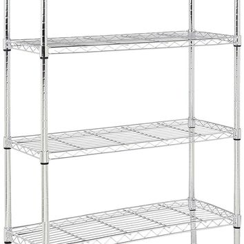 Chrome Shelving Unit For Home Storage Closet