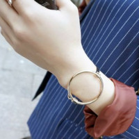 Fashion Retro  Geometric Circle Buckle Bracelet