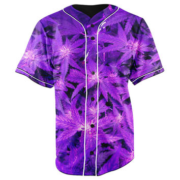 Purple Haze Button Up Baseball Jersey