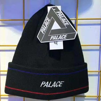 PALACE winter new tide brand couple wild knit cap black