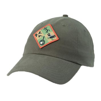 Campside Patch Waxed Hat in Dark Olive by Southern Tide